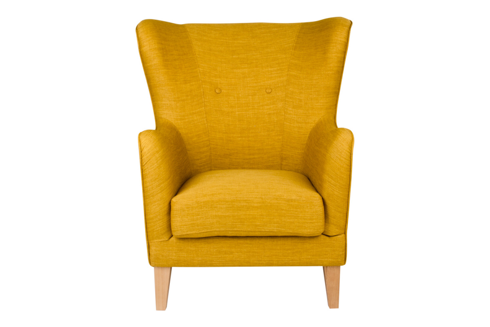 Stílusos fotel Julian, sárga