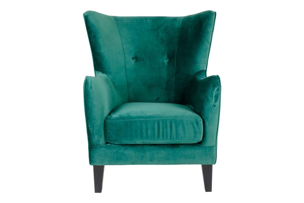 Stílusos fotel Julian, zöld bársony
