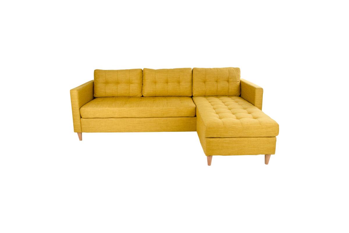 Stílusos ülőgarnitúra Brianna / sárga