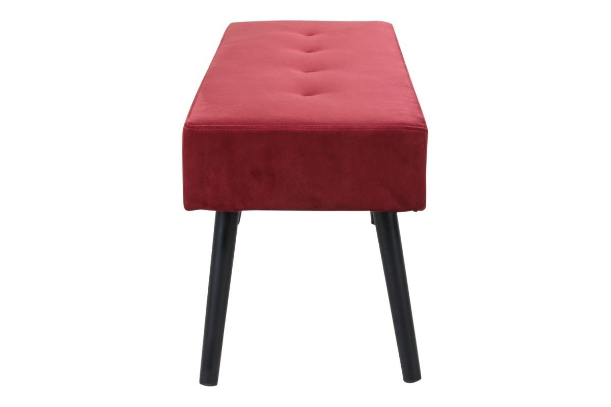 Stílusos ülőpad Elaina, piros bársony