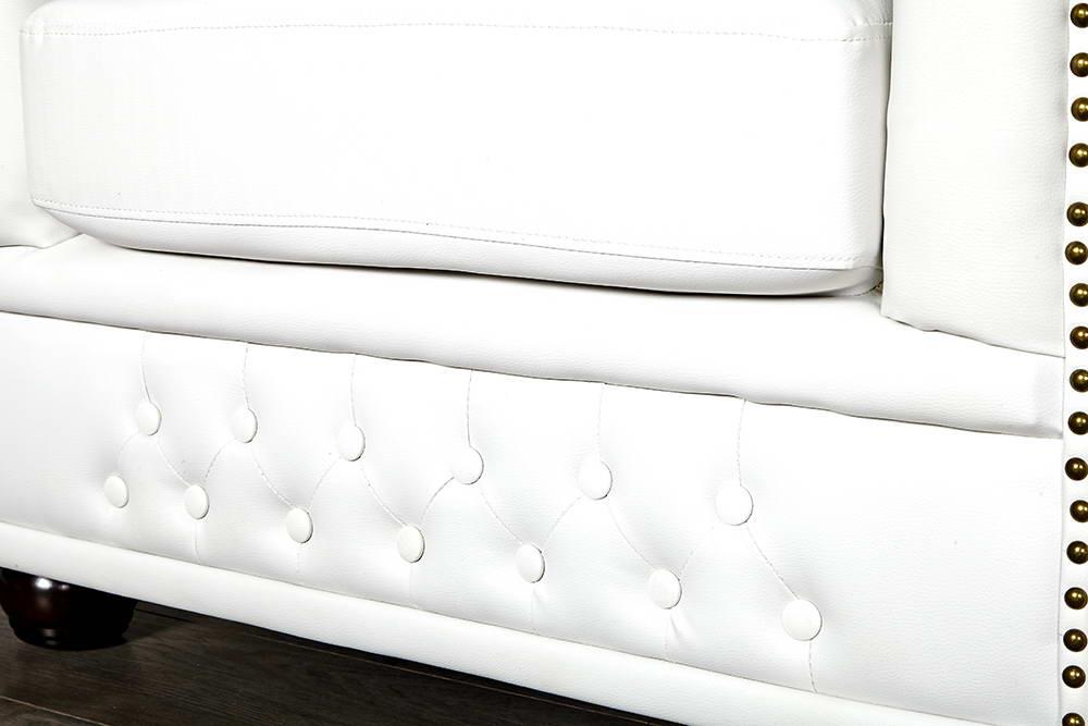 Luxus fotel Chesterfield II fehér