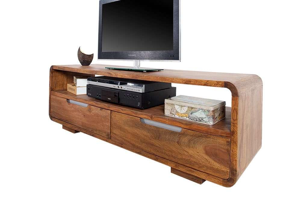 Luxus TV asztal masszív fából Island