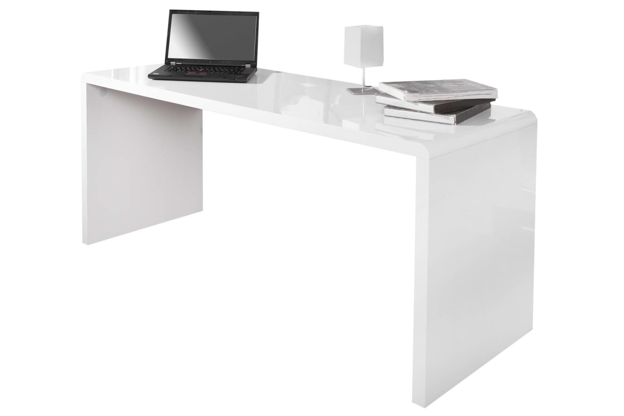 Íróasztal Barter 160cm fehér, magas fény