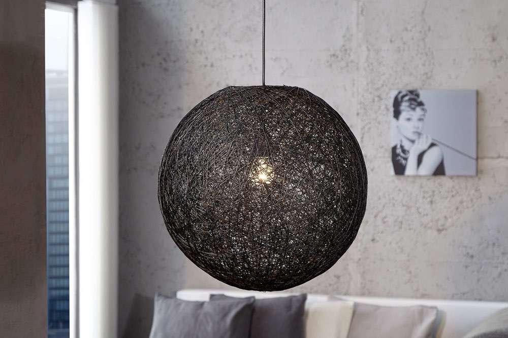 Lámpa Wrap fekete 45 cm