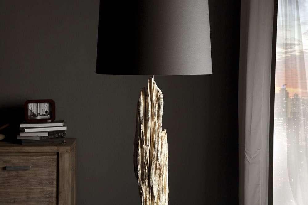 Luxus állólámpa Stump fekete