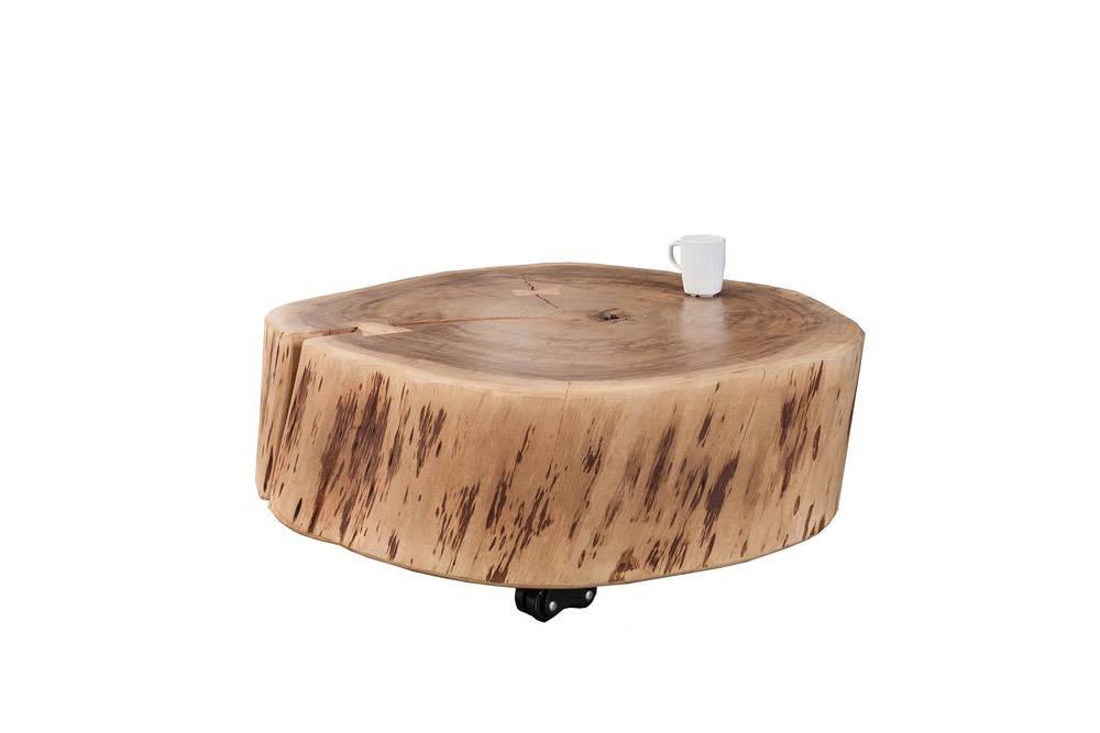 Dohányzóasztal masszív fából Island II Circle