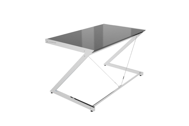 Stílusos asztal Brik krómozott fekete