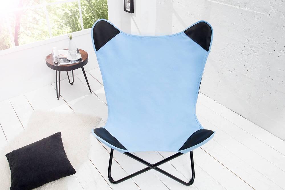 Luxus fotel Fairy kék