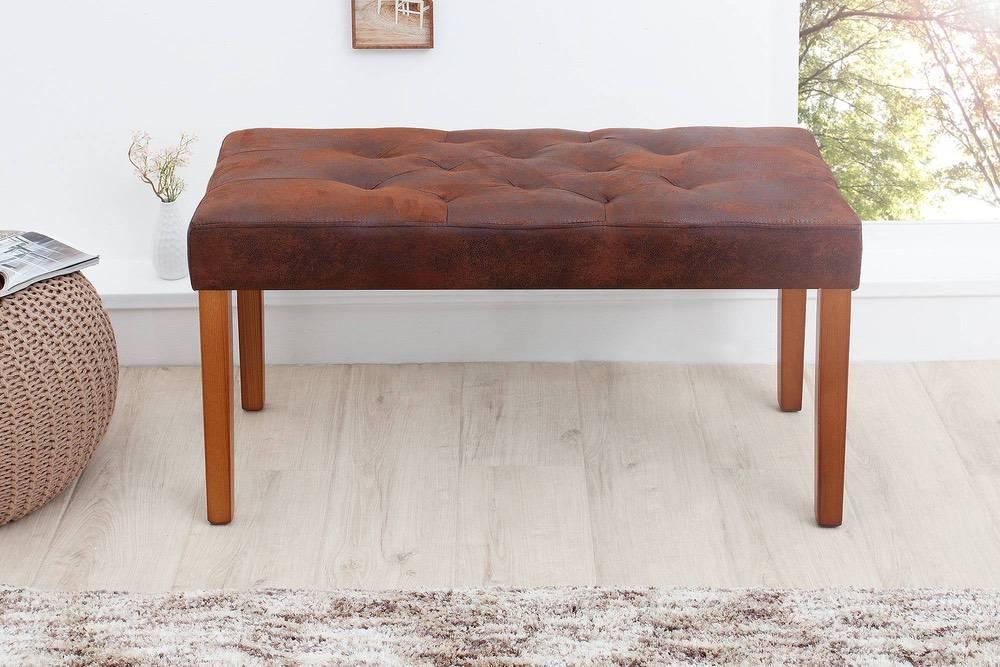 Stílusos ülőpad Alisson 90 cm barna