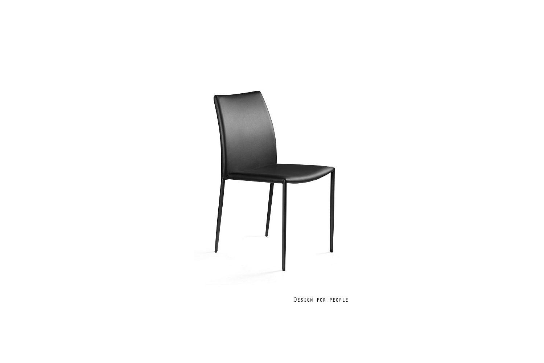 Stílusos szék Azura - eko bőr - fekete vagy fehér szín