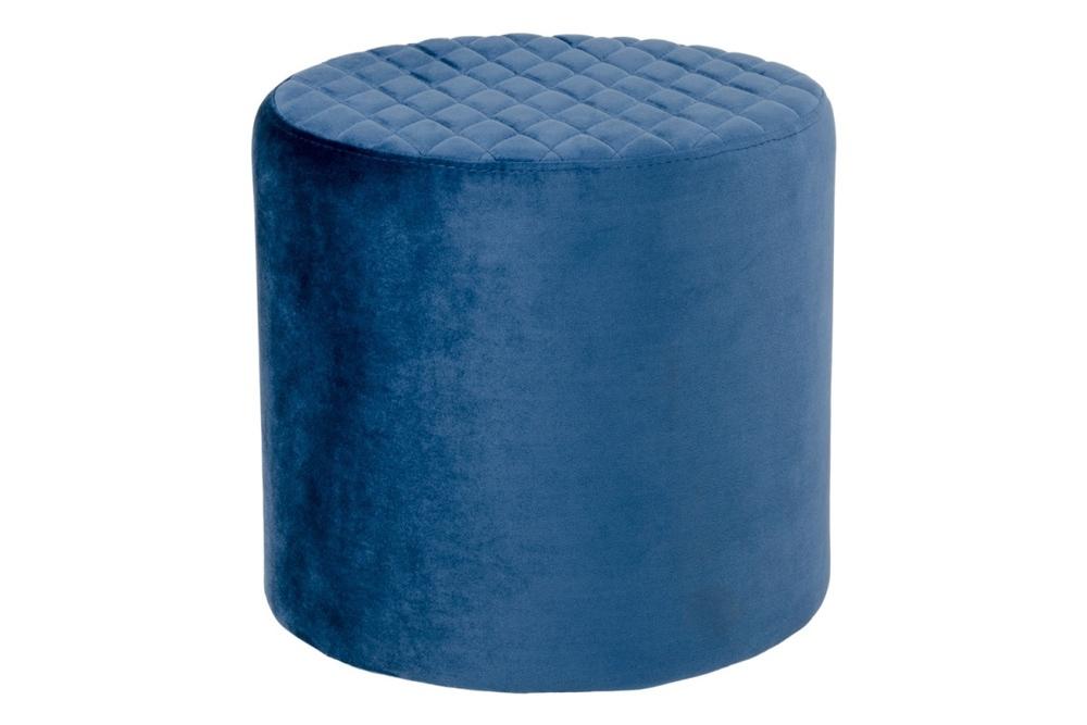 Stílusos puff Kiera - kék bársony