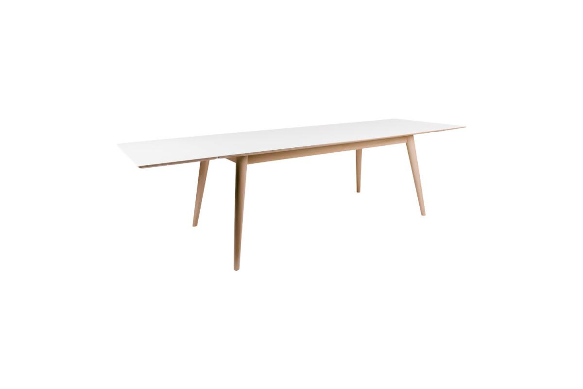 Széthúzható asztal Ronald 285, natúr / fehér