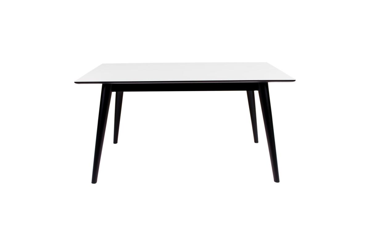 Széthúzható asztal Ronald 230, fekete / fehér