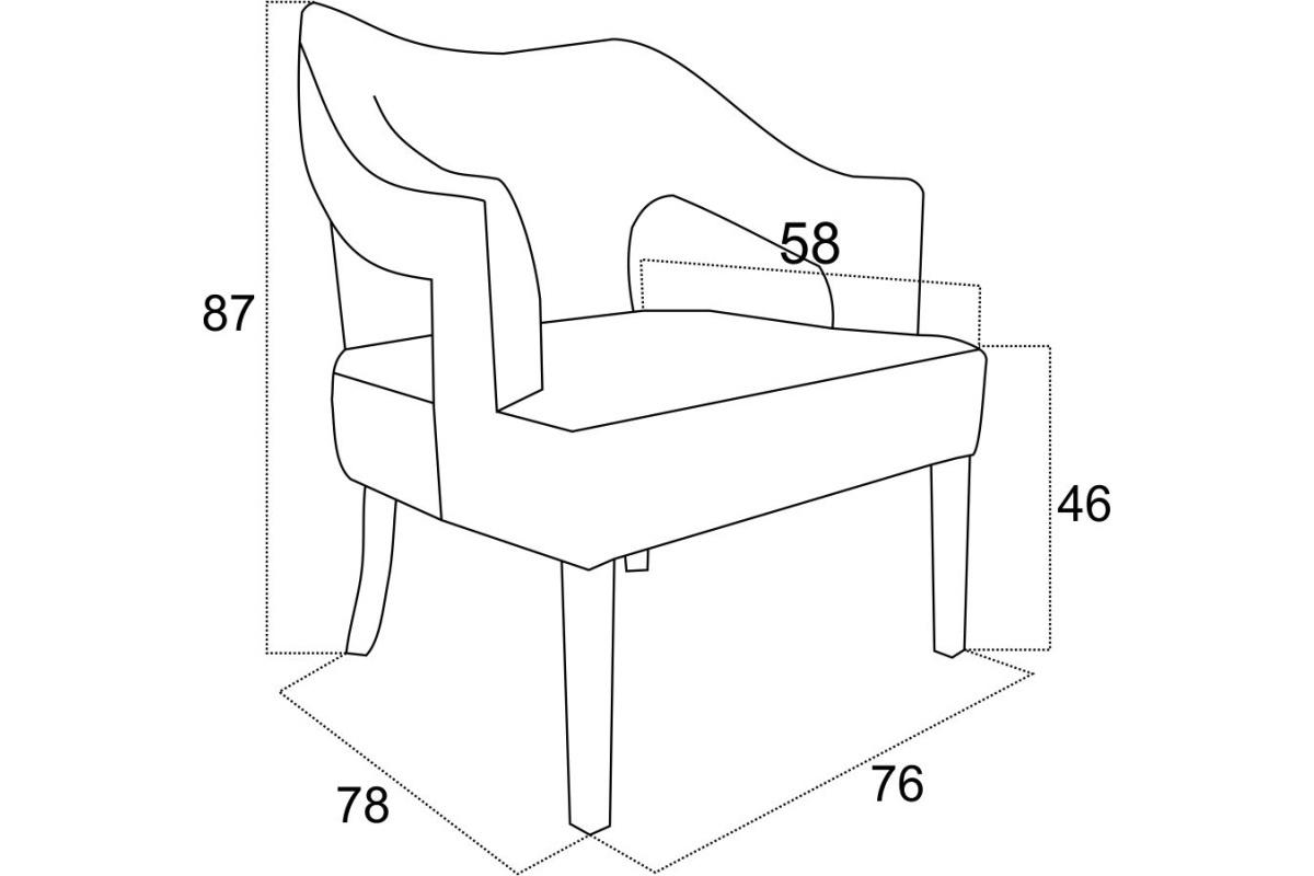 Stílusos fotel Alessandra - különféle színek