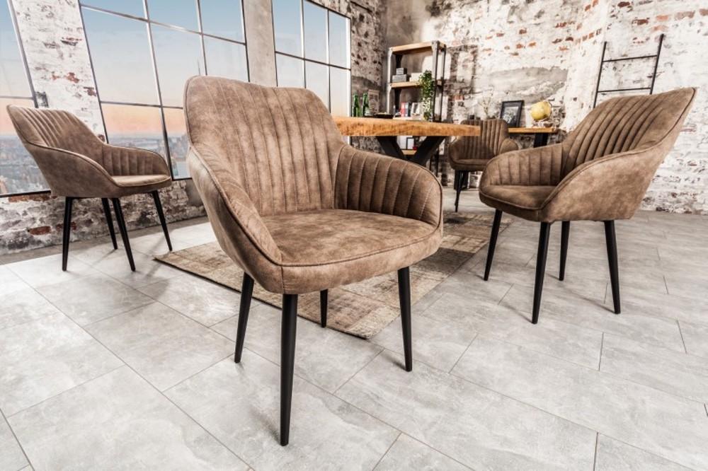 Stílusos szék Esmeralda szürkés bézs - raktáron 1db SK-RP