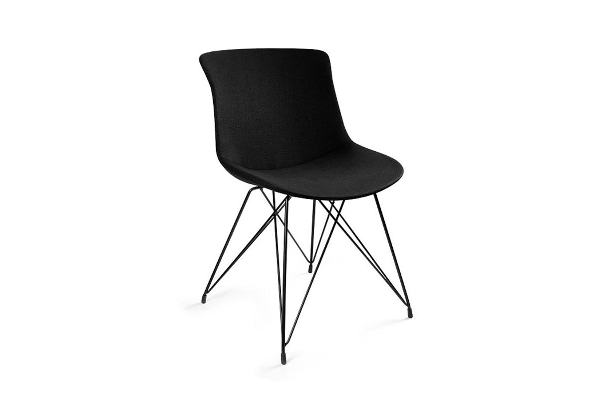 Stílusos szék Ainsley BR, anyag, fekete