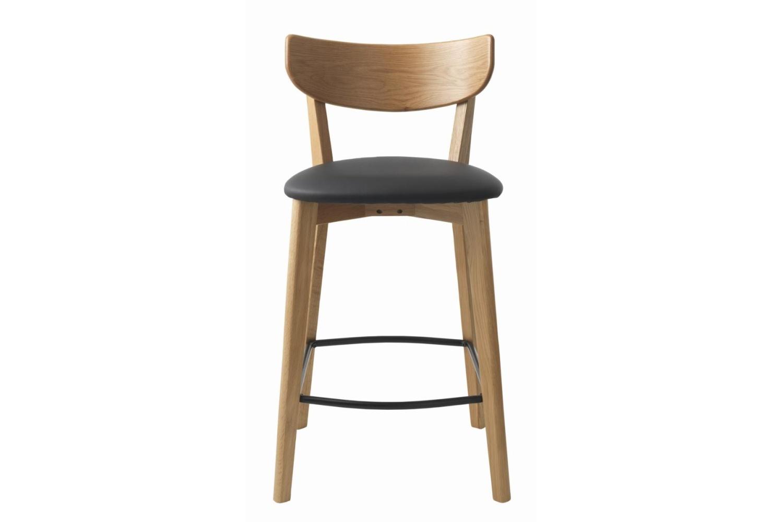 Stílusos bár szék Kian natúr - fekete - 1db raktáron SK