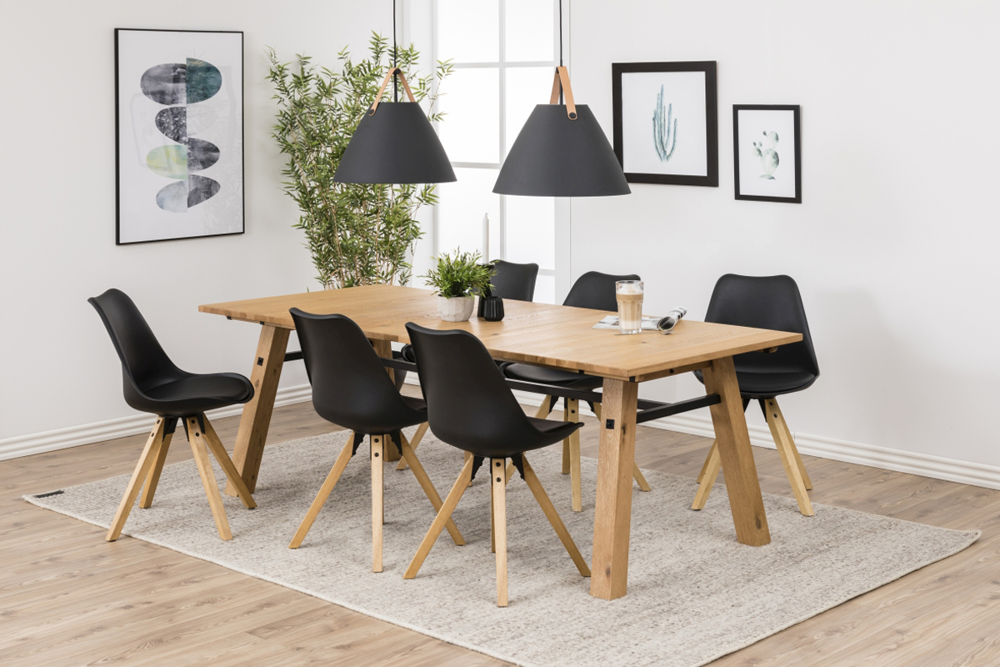 Stílusos szék Nascha fekete-természetes