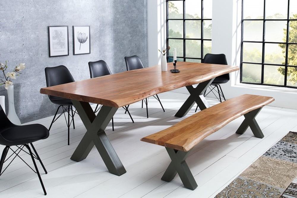 Luxus étkezőasztal Massive X 200 cm - honey