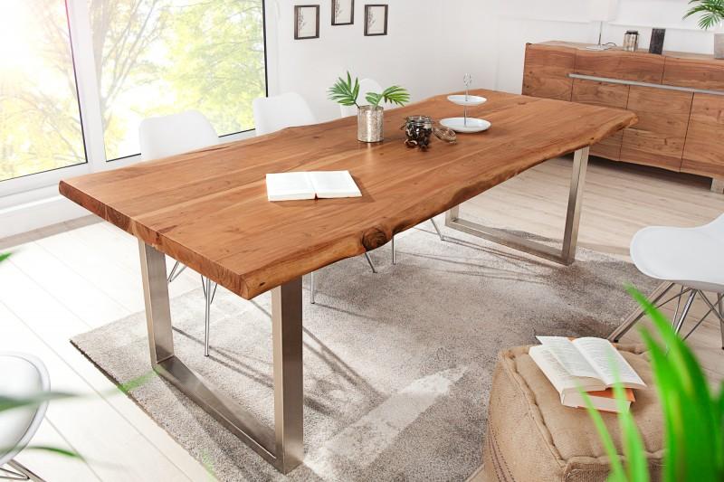 Luxus étkezőasztal Massive II New 200 cm - Honey
