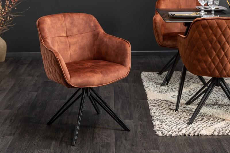 Stílusos szék Natasha barna bársony