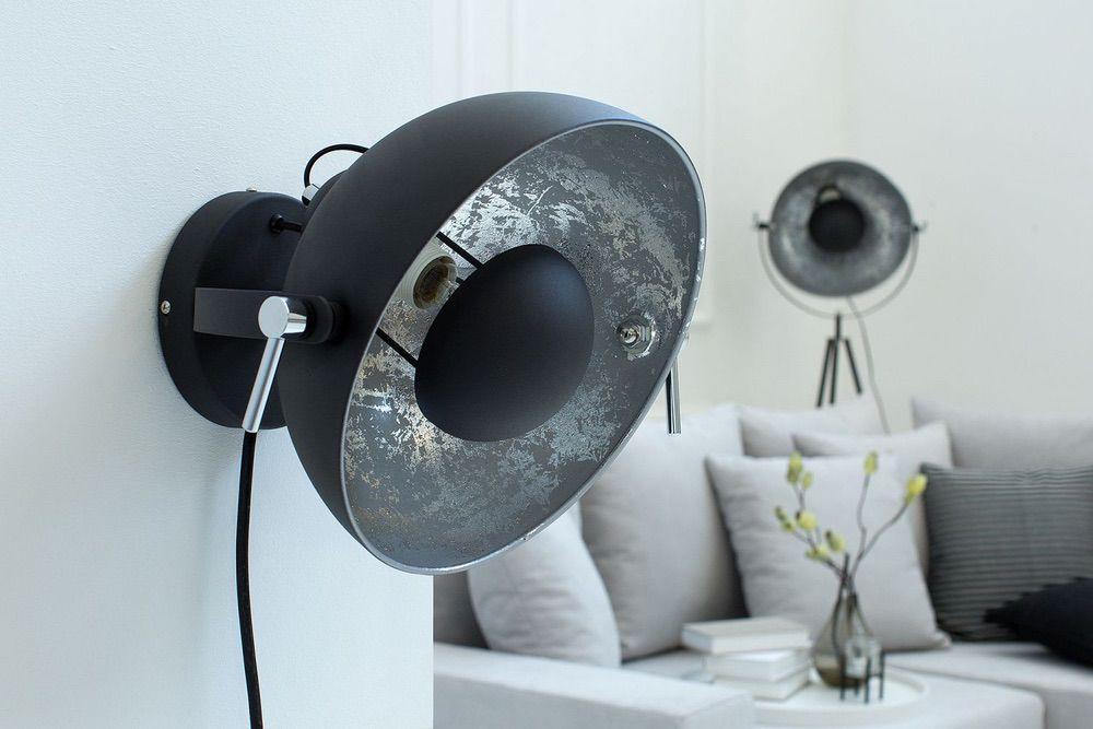 Fali lámpa STAGE fekete-ezüst