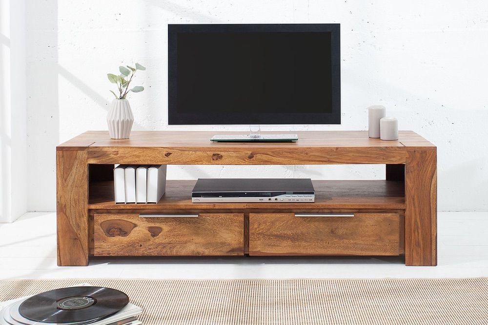 Luxus TV asztal Elegant masszív fából 135 cm