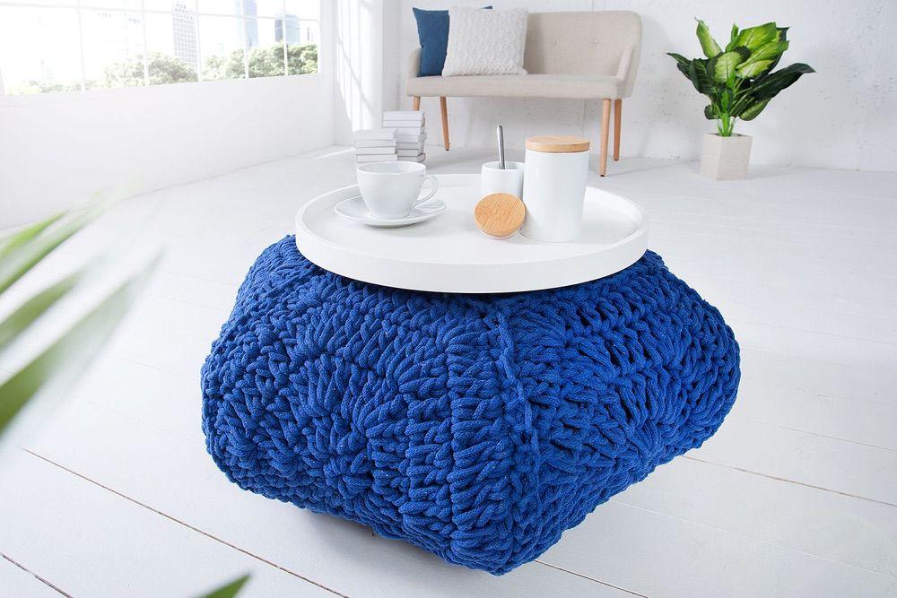 Stílusos puff Lilly II / sötét kék