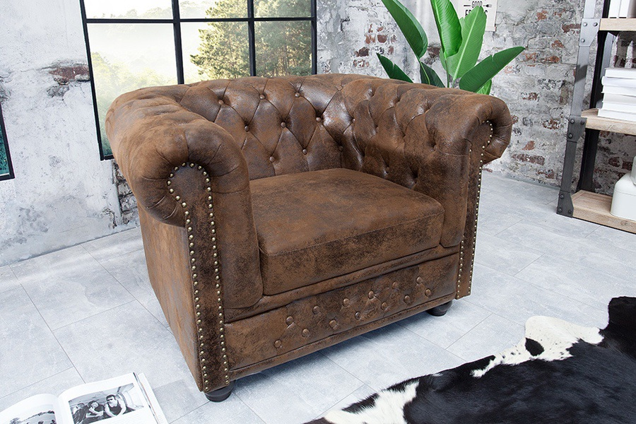 Luxus vintage fotel Chesterfield
