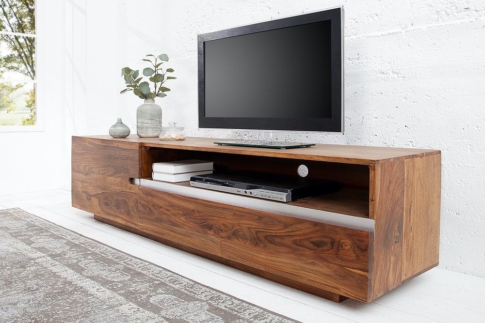 Luxus TV asztal Flame masszív fából