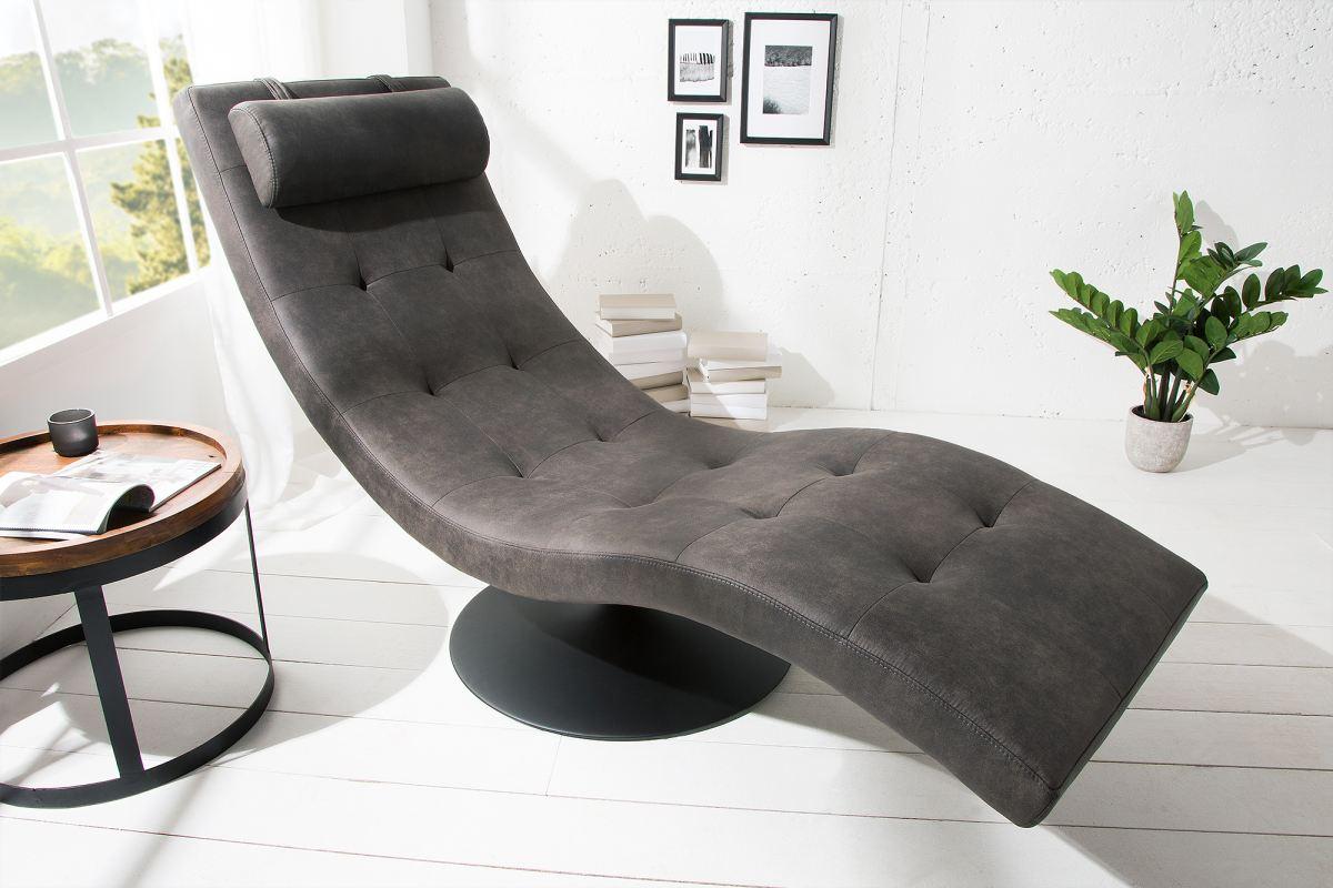 Luxus relax fotel Rest szürke