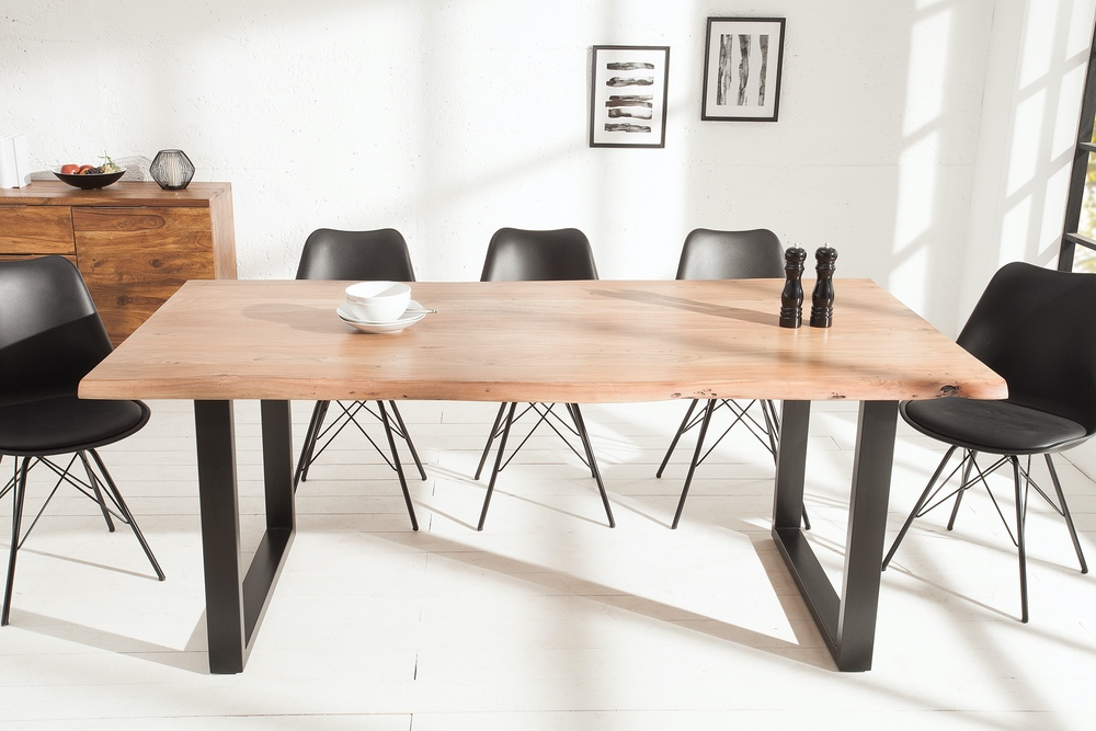Luxus étkezőasztal Massive 200 cm Black