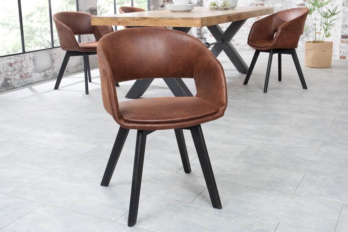 Stílusos szék Colby antik barna