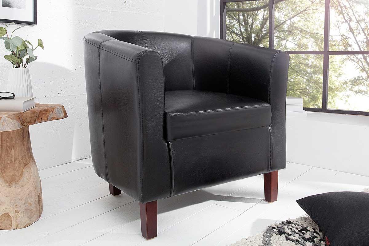 Stílusos fotel Lyric fekete