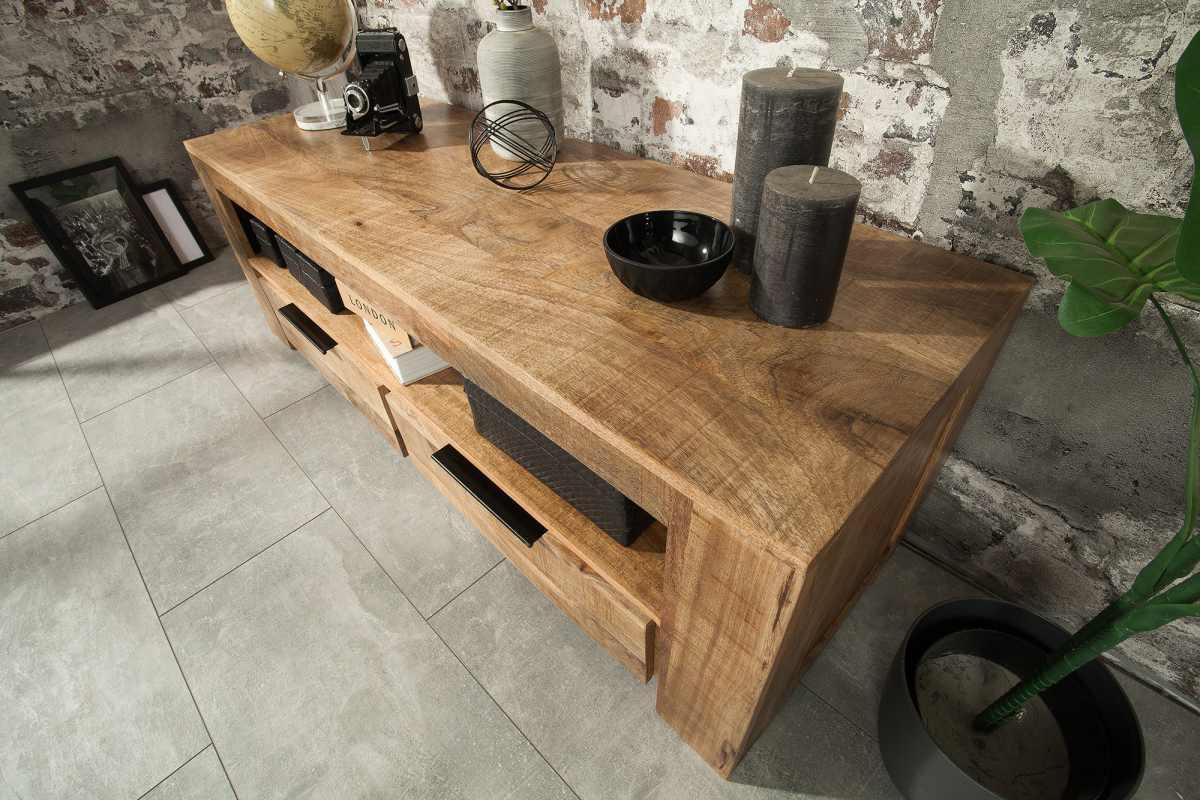 Stílusos TV asztal Thunder 130 cm mangó