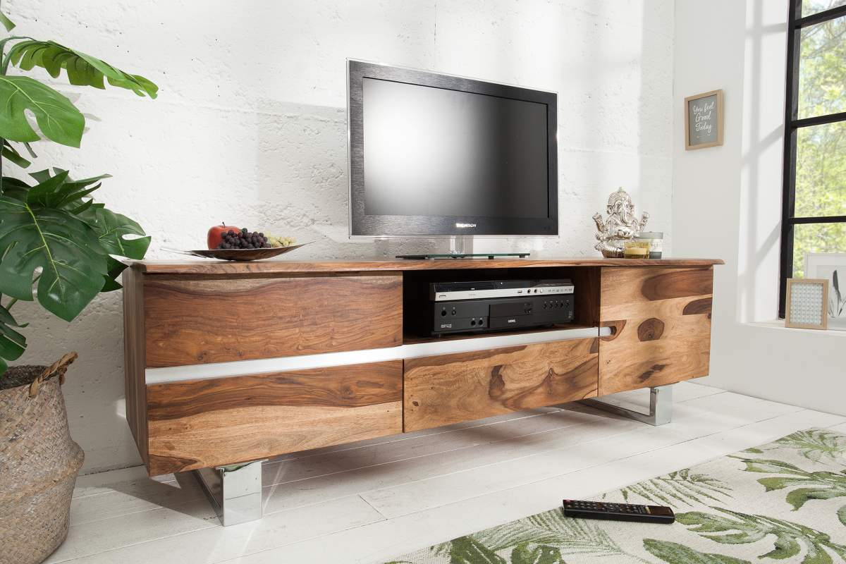 Luxus TV asztal Massive S 160 cm sheesham