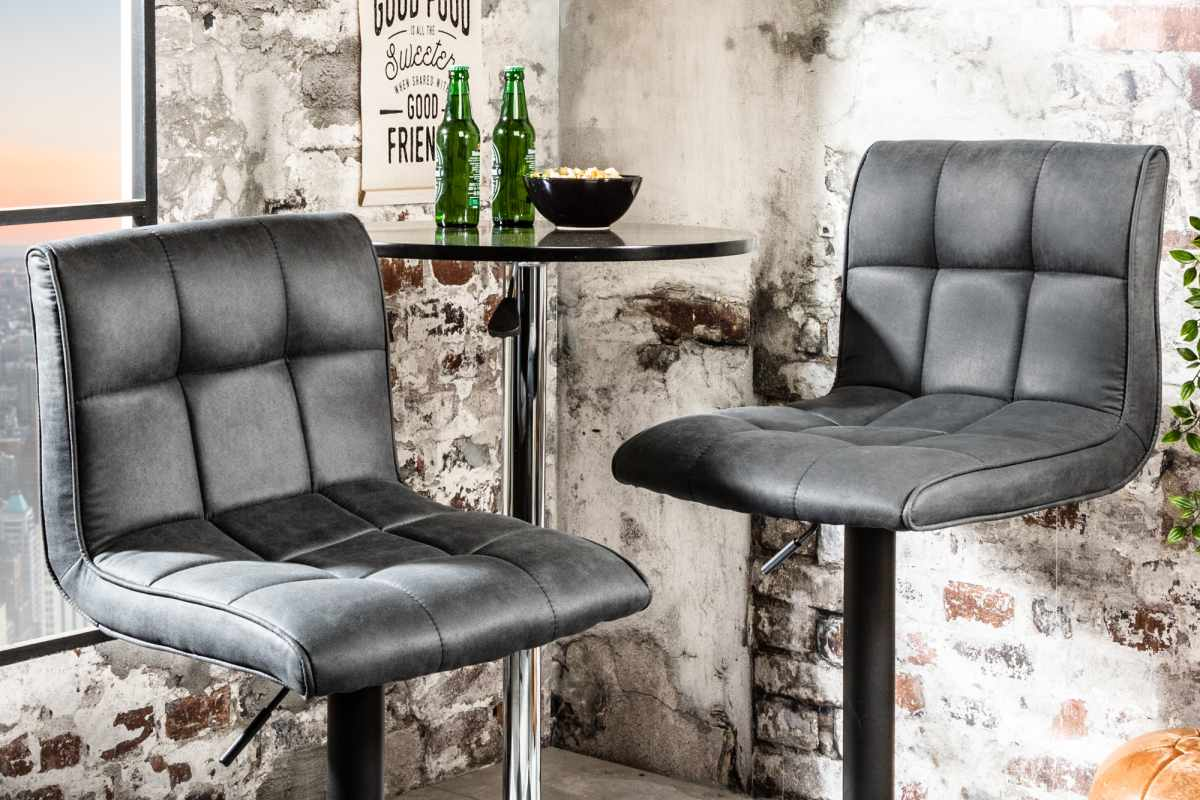 Stílusos bár szék Modern vintage szürke - raktáron SK-RP