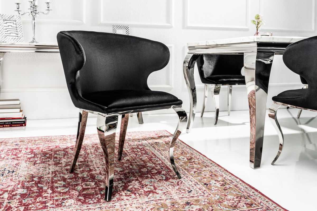 Stílusos szék Rococo II fekete bársony