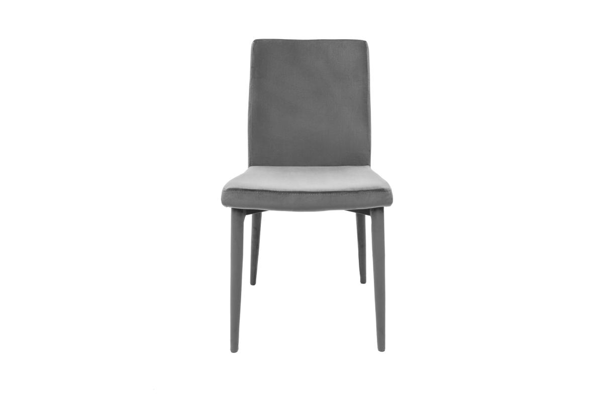 Stílusos szék Neapol, szürke bársony