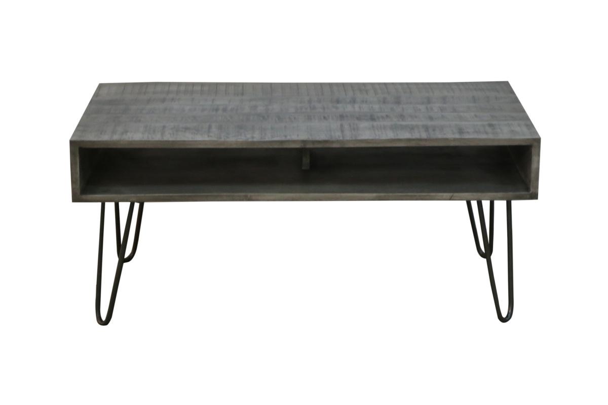 Stílusos dohányzóasztal Felix 100 cm, szürke mangó
