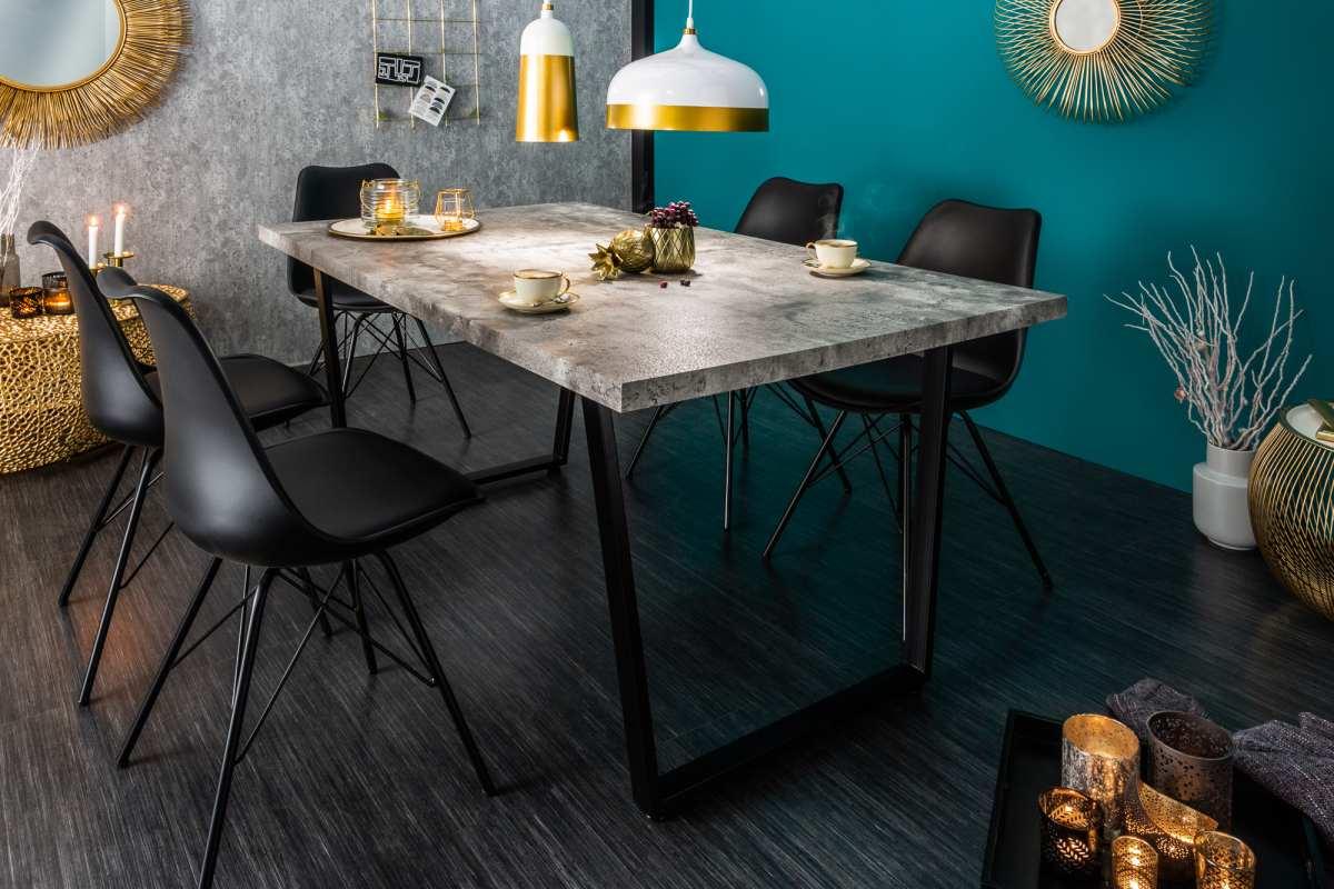 Stílusos étkezőasztal Bryant, 160 cm, beton