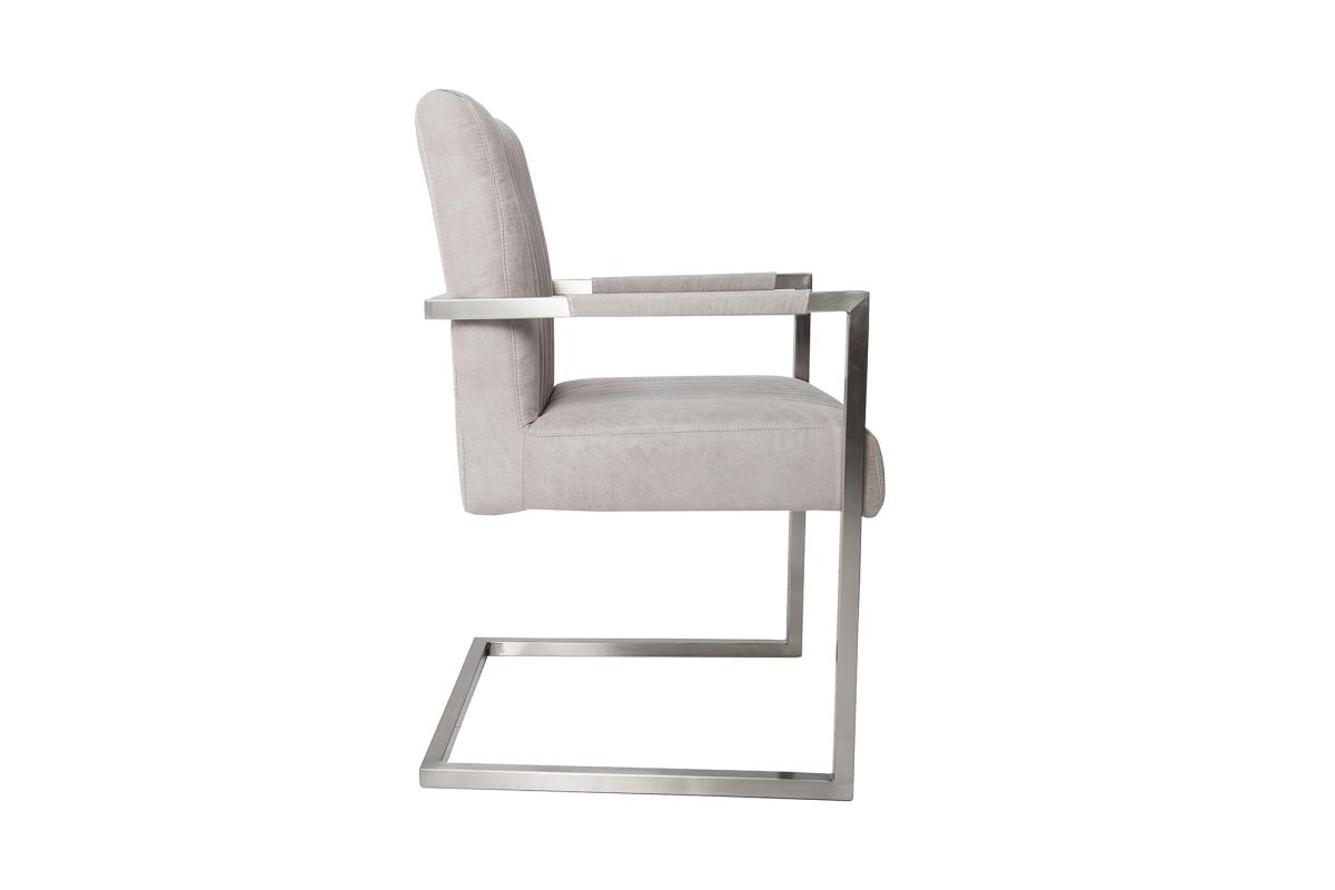 Szánkótalpas szék Boss kéztámlával, szürke