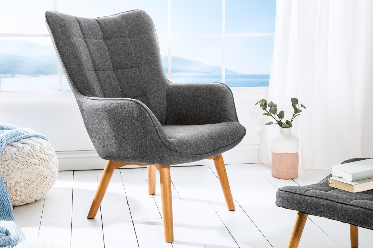 Stílusos fotel Sweden, szürke
