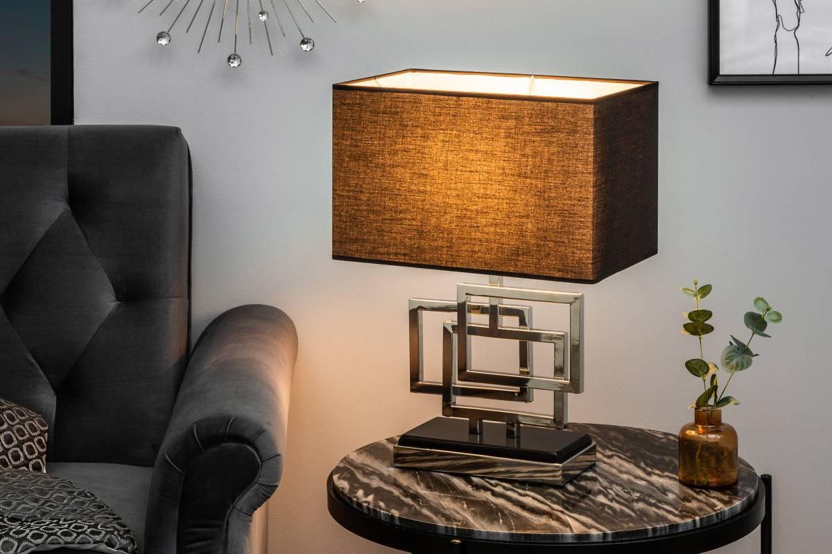 Stílusos asztali lámpa June, 56 cm, ezüst