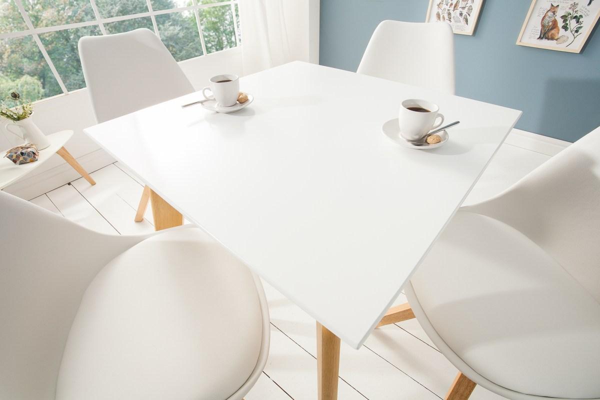 Stílusos étkezőasztal Sweden, 70 cm, fehér