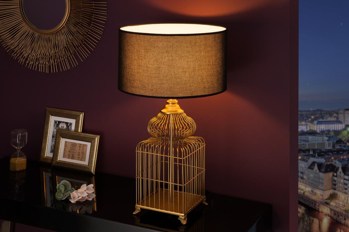 Stílusos asztali lámpa Bruce, 68 cm, arany