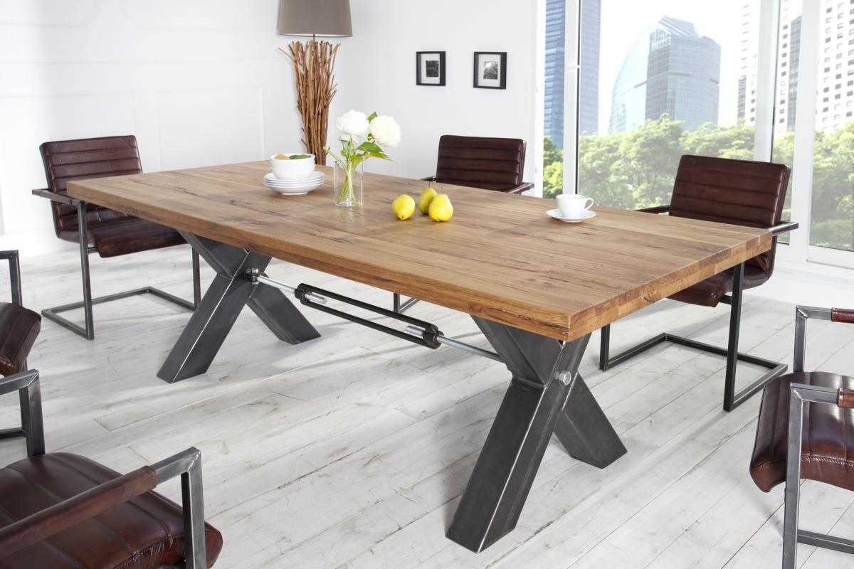 Stílusos étkezőasztal Thunder, 200 cm, vad olajozott tölgy