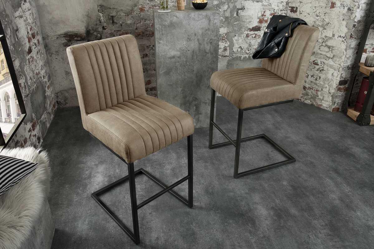 Stílusos bár szék Boss - szürkésbarna taupe