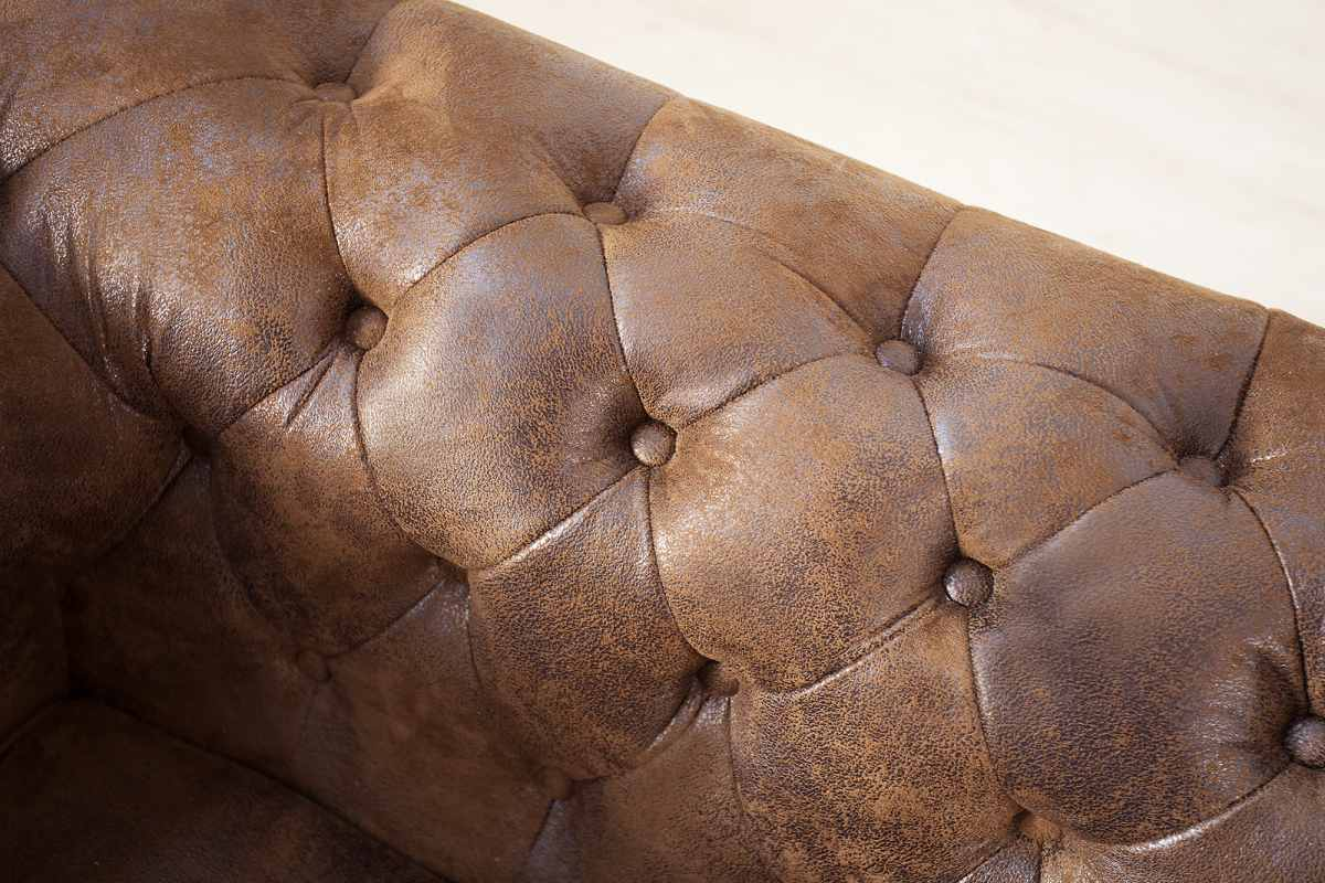Sarok ülőgarnitúra Chesterfield - antik barna / balos