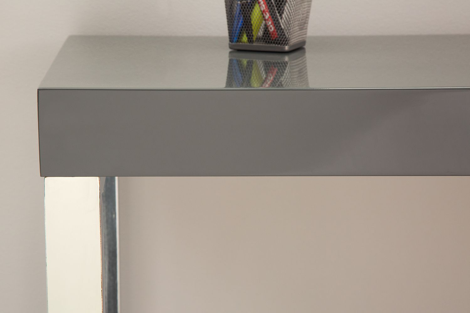 Íróasztal Office / sötétszürke